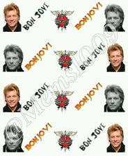 Bon Jovi Nail Decals (water decals)