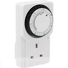 UK 3 Pin 7 DAY TIMER PROGRAMMABLE MAINS WALL HOME SOCKET PLUG-IN SWITCH