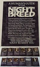 1990 Clive Barker promotional brochure ~ HUMAN'S GUIDE TO THE NIGHT BREED