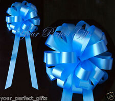 "10 BLUE WEDDING 8"" PULL PEW BOW BRIDAL DECORATION CAR US Seller Free Shipping"