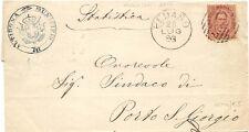 P5765   Ascoli Piceno, PEDASO, annullo numerale a sbarre 1883
