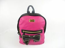 Betsey Johnson Backpack Sequin Bow Black and Pink MSRP $108 A1490