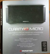 New  Monster Clarity HD Micro Bluetooth Stereo Speaker with Voice Command  Black