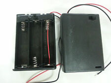 "1pc 3-AA 4.5V ENCLOSED Battery Holder case Box w/ switch 6"" leads US FreeShip"