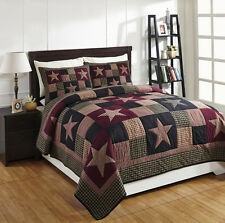 "3 Piece KING ""PLUM CREEK"" Quilted Bedding SET ~ Country, Primitive***NEW"