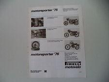 advertising Pubblicità 1976 PIRELLI MOTOVELO e DUCATI 860 GT/BENELLI 125 2C