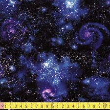 Robert Kaufman Fabric Stargazers Galaxy Nightfall PER METRE Space Stars Solar Sy