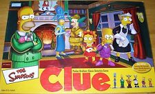 SIMPSONS CLUE Classic Detective Game 2ND Edition 100% Complete! NICE!