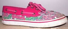 Kid Youth Girls 2.5 Women 4.5 Sperry Top-Sider Bahama Teaberry Pink Sequin Shoes