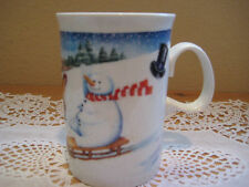 "Dunoon ""Mister Snowman"" Designed By Ruth Boden Scotland Coffee Cup Mug"