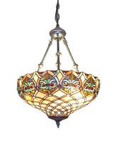 Stained Glass Lamp Hanging Ceiling Light Pendant Tiffany Art Handcrafted Shade