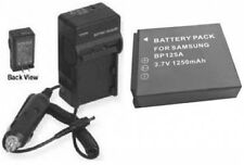 Battery +Charger for Samsung HMX-M20SN/XAA HMX-M20SN/XAC  IABP125A/EPP HMX-M20BP