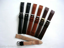 16mm Open End Buffalo Leather wire lugs Pilot Military watchband strap IW SUISSE