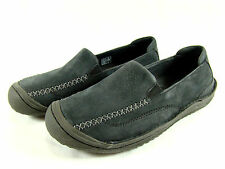 KEEN Golden Loafers Shoes Womens 7 Black Charcoal Gray Nubuck Leather Slip On