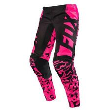 FOX Youth GIRL'S 180 motocross BMX pants size 28  14983-285-28 blk/pnk