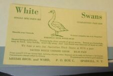 1959 Meems and Ward Sacred White Chinese Geese White & Black Swans Postcard