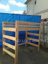 EXTRA HEAVY DUTY QUEEN SIZE ADULT LOFT BED WITH 1000 LBS WEIGHT CAPACITY