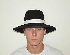Vintage HXC Hatcrafters Men's Black Wool Zoot Fedora Hat - Size Medium