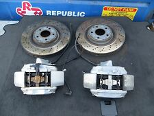 MERCEDES  C55 CLK55 FRONT BREMBO BRAKE CALIPER CALIPERS & ROTORS 62K OEM