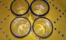 Hecho en Mexico Blown Glass  set 4  Glasses 8oz MOTHERS DAY GIFT