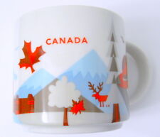 New Starbucks Canada 2015 Coffee Mug You Are Here Leaf Quebec City Hat Trees