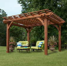 Free Standing Pergola 10 x 12 Gazebo Kit Backyard Patio Canopy Outdoor Building