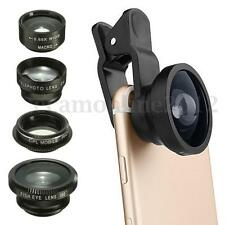 5 in 1 2X Zoom Telephoto Macro Wide Clip On Fish Eye CPL Lens For Phone Camera