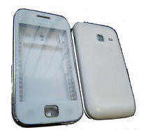 For Samsung Galaxy Ace Duos GT S6802 Fascia Housing Back Battery Cover White UK