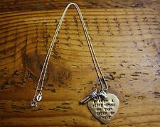 Johnny Cash Handcrafted Necklace with Gun Charm on Brass Heart Pendant