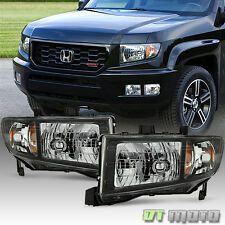 2006-2014 Honda Ridgeline Headlights Headlamps Replacement 06-14 Pair Left+Right