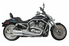 H-D V-Rod Baffled Chrome Slash Cut Slip-on Exhaust (111-1220)