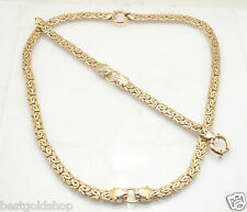 Technibond Diamond Panther Byzantine Bracelet Chain Necklace Gold Clad Silver