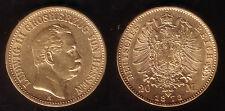 20 Mark Gold Hessen Ludwig III. 1873, selten!