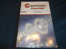 GROVE MANITOWOC GMK 6300 CRANE MAINTENANCE BOOK CATALOG MANUAL