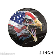 "Premium 4"" Custom Gloss Decal Sticker For Car Truck SUV Window - USA BALD EAGLE"