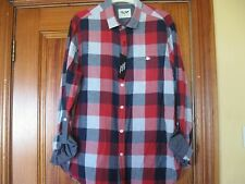 Red, White and Navy Cotton Check Shirt Size Large Brand New with Tags