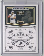 Matthew Stafford 2010 Playoff National Treasures Century Silver 12/25 Lions