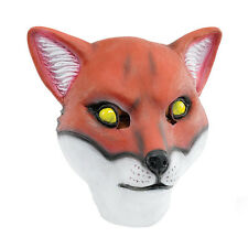 FOX OVERHEAD ADULT RUBBER MASK FANCY DRESS COSTUME ACCESSORY