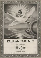 22/7/89Pgn09 Advert: 'this One B/w The First Stone' By Paul Mccartney 15x11