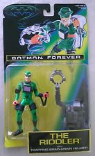 BATMAN FOREVER THE RIDDLER W/TRAPPING BRAIN-DRAIN HELMET KENNER 1995