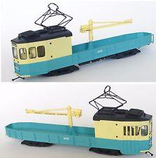 LM-33 Straßenbahn Kranwagen Triebwagen Tram Tramway Streetcar Fertigmodell HO