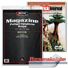 """100 each BCW 8 3/4"""" Resealable Magazine Storage Bags & Backer Boards"""