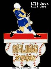 OLYMPIC PIN BEIJING 2008 SPORT SOFTBALL LE GOLD 1/100