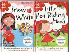 2 books Reading with Phonics SNOW WHITE and LITTLE RED RIDING HOOD Childrens HC