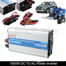 1500W Power Inverter Charger Converter DC 12V to AC 220V For Car Truck Auto TV