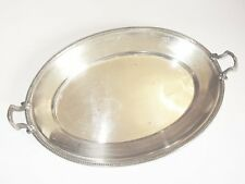 PLAT A ANSES OVALE CORBEILLE en METAL ARGENTE SILVER PLATED TRAY