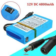 12480 DC 12V 4800mAh Rechargeable Mini Portable Li-ion Battery For CCTV Camera