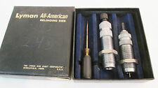 LYMAN A-A ALL AMERICAN 243 WIN 2-DIE RIFLE SET~FULL LENGTH SIZER DIE+SEATER DIE