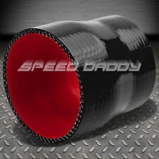"""2.75""""-3"""" STRAIGHT TRANSITION REDUCER BLACK/RED SILICONE HOSE COUPLER TURBO"""