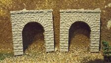 N-Scale  2pc. Single Track Stone Portal's 1:160 Model Train Detail Accessories